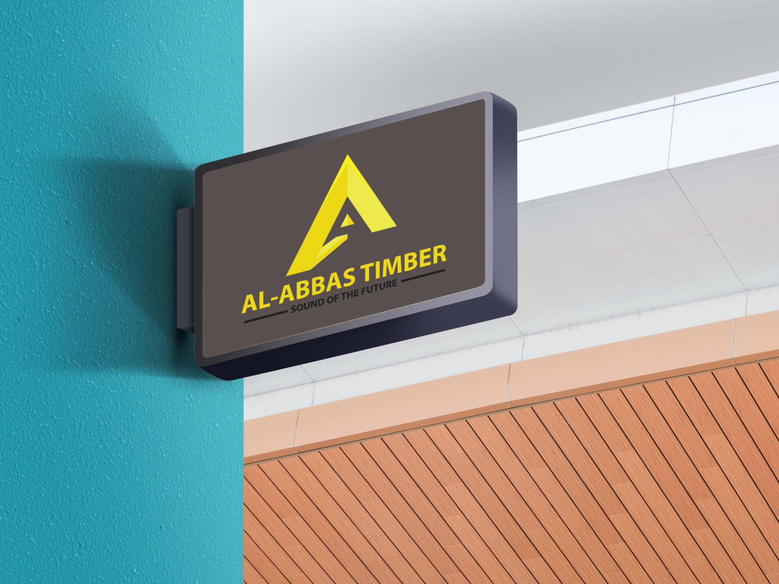 Al Abbas timber shop logo design by Badri Design