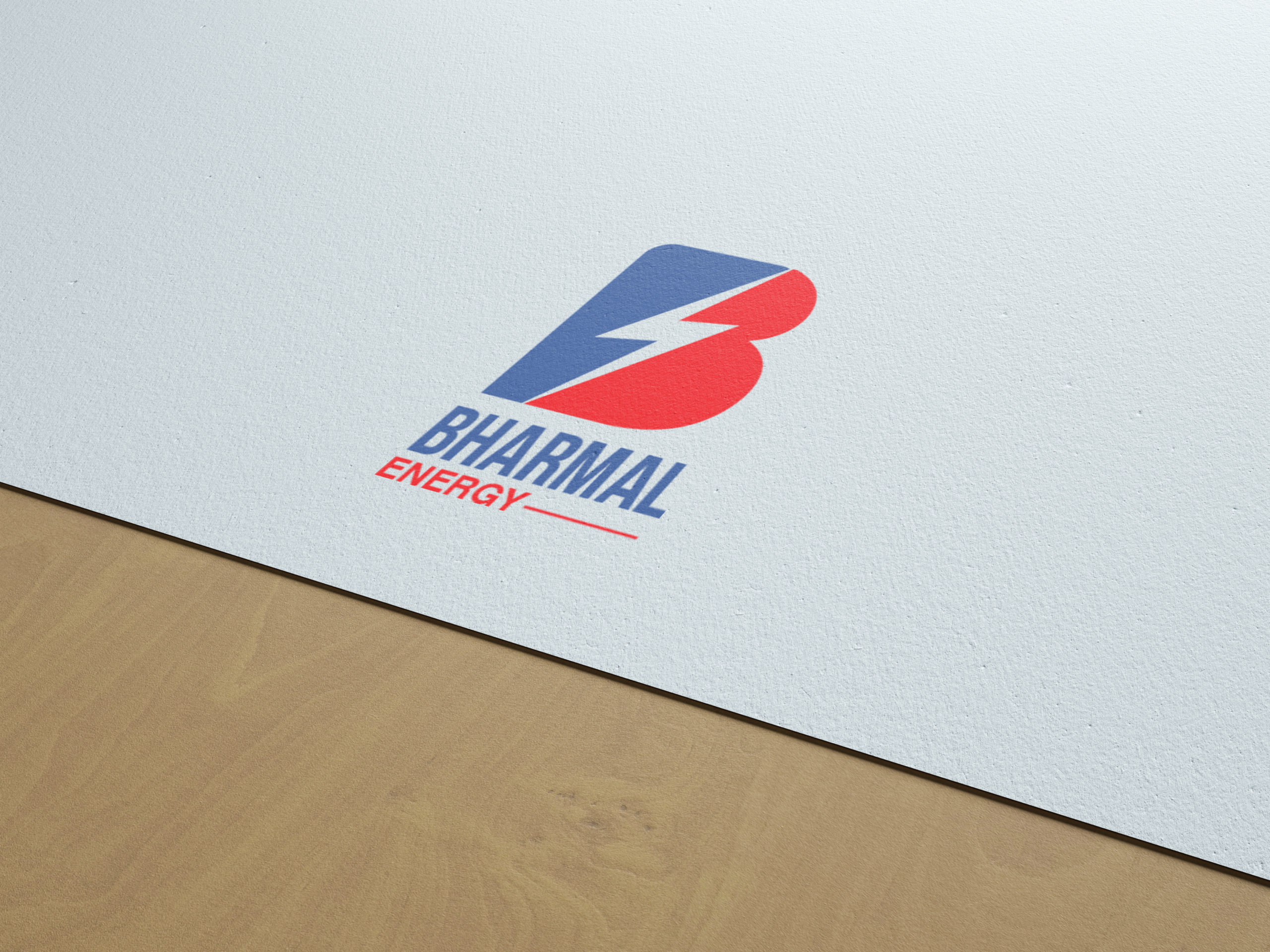 Bharmal energy solar company logo design by Badri Design