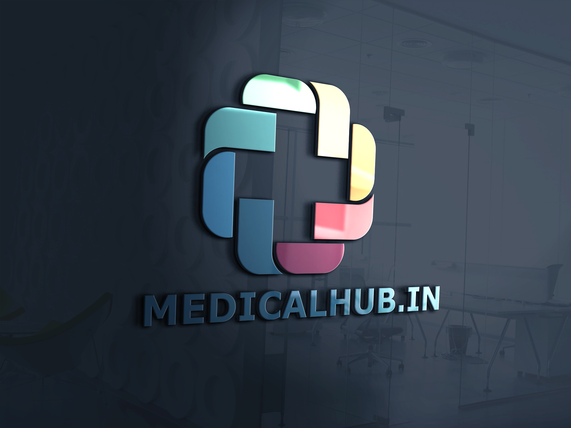 Medicine hub logo design by Badri design