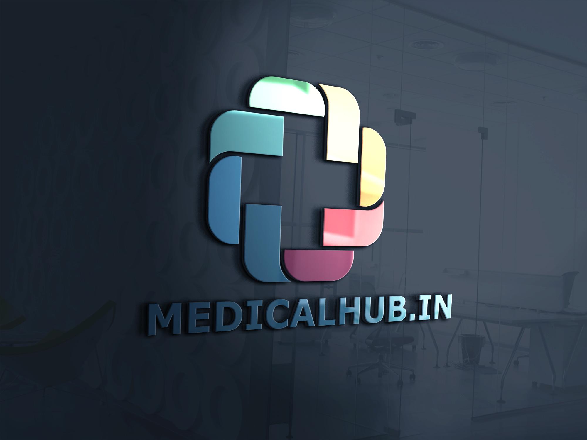 Medicine hub logo design by Badri design