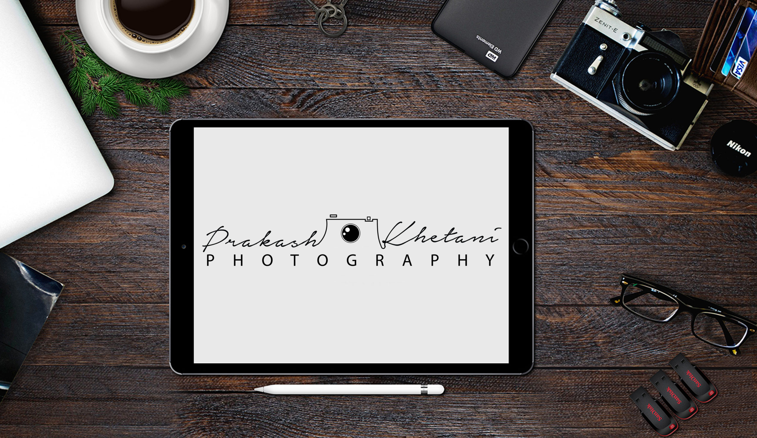Prakash Khetani logo design by Badri Design