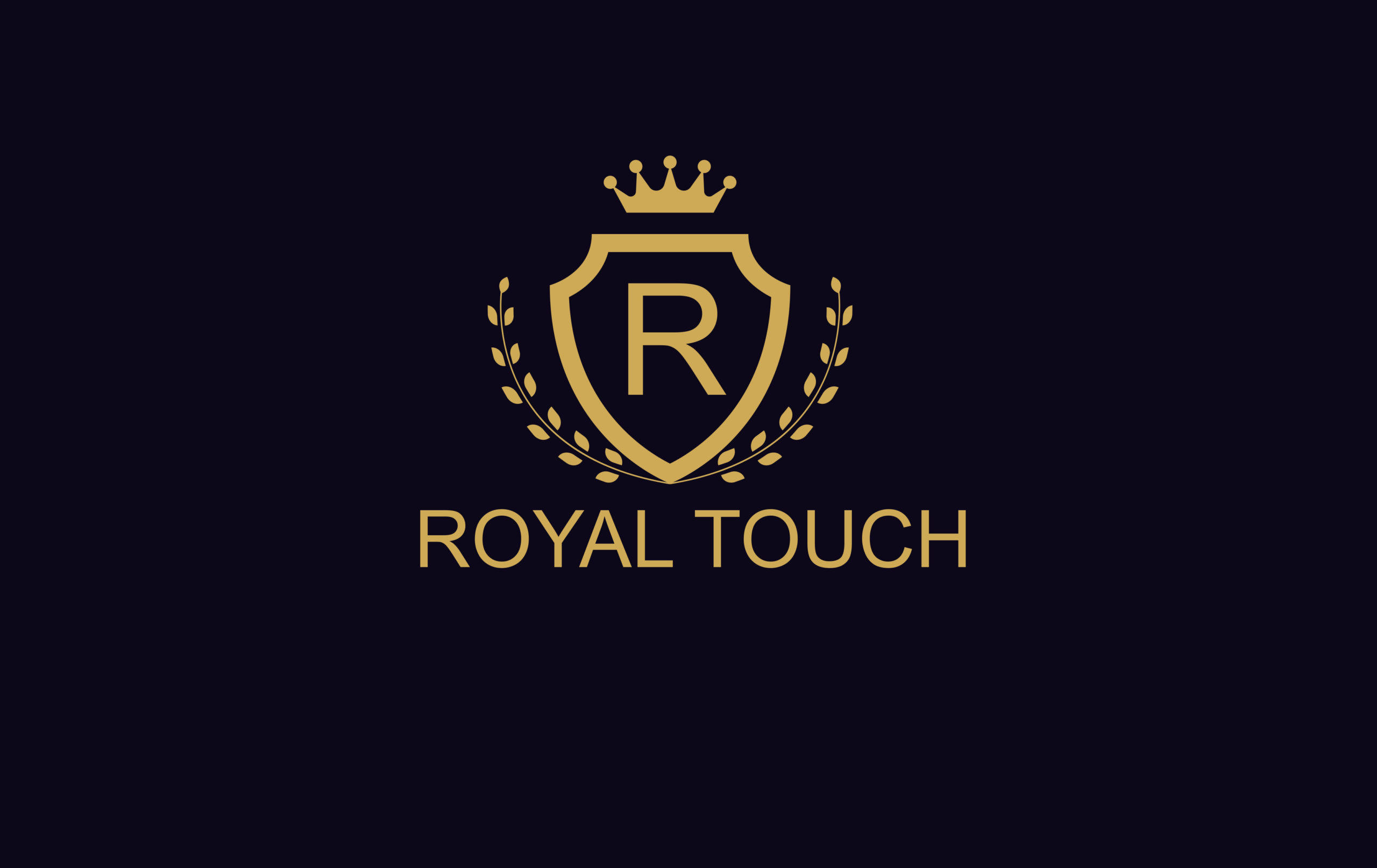 Royal Touch garment shop logo design by Badri Design