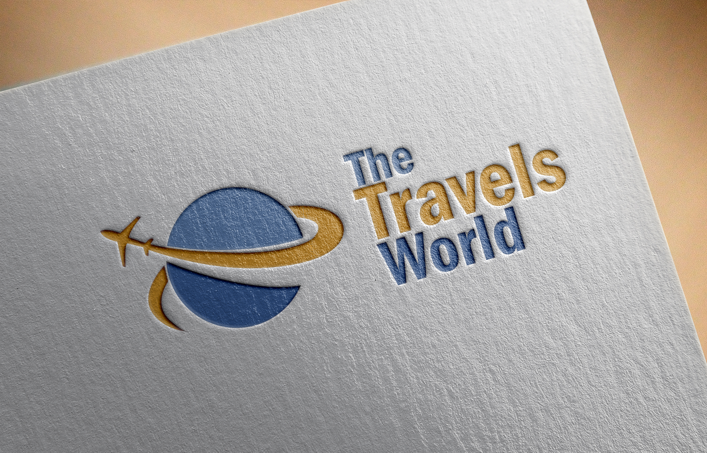 The travels world creative logo design by Badri design