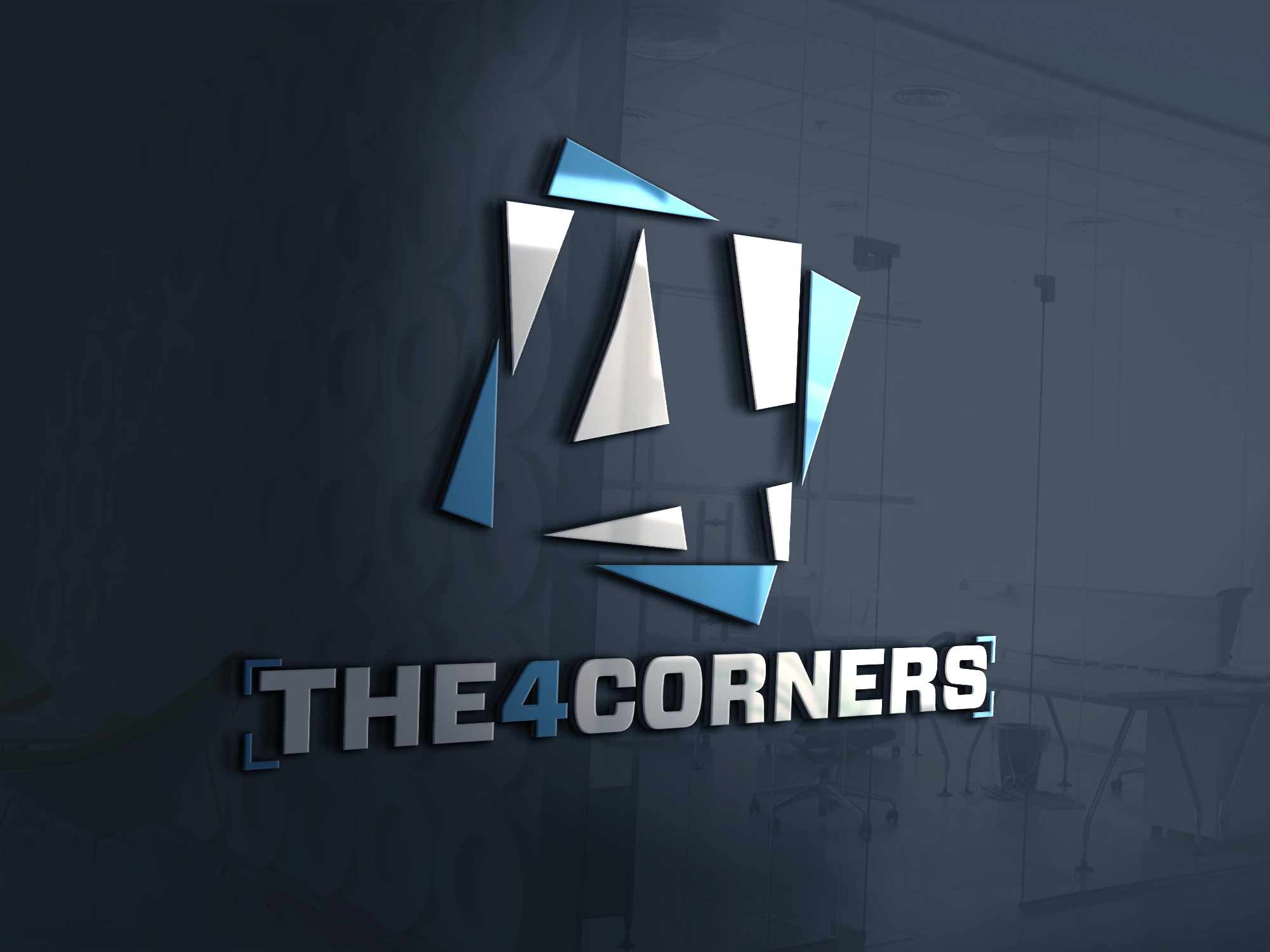The4corners ecommerce website logo design by Badri Design