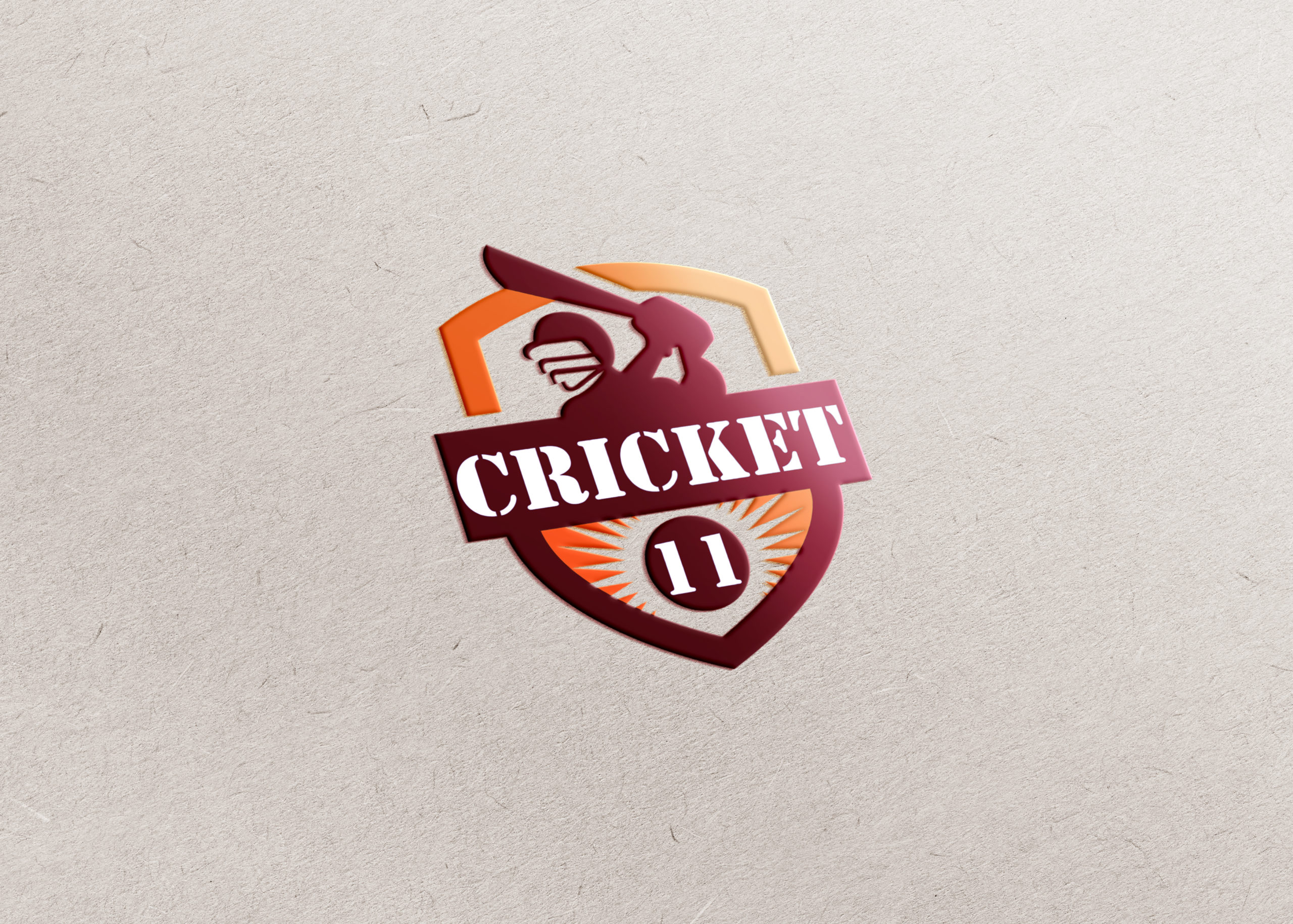 online cricket game app logo design by Badri Design
