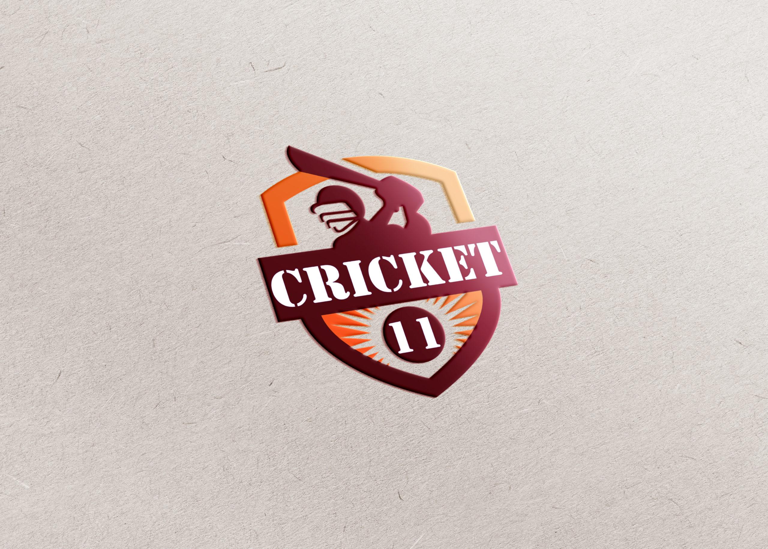 online cricket game app logo design by Badri Design