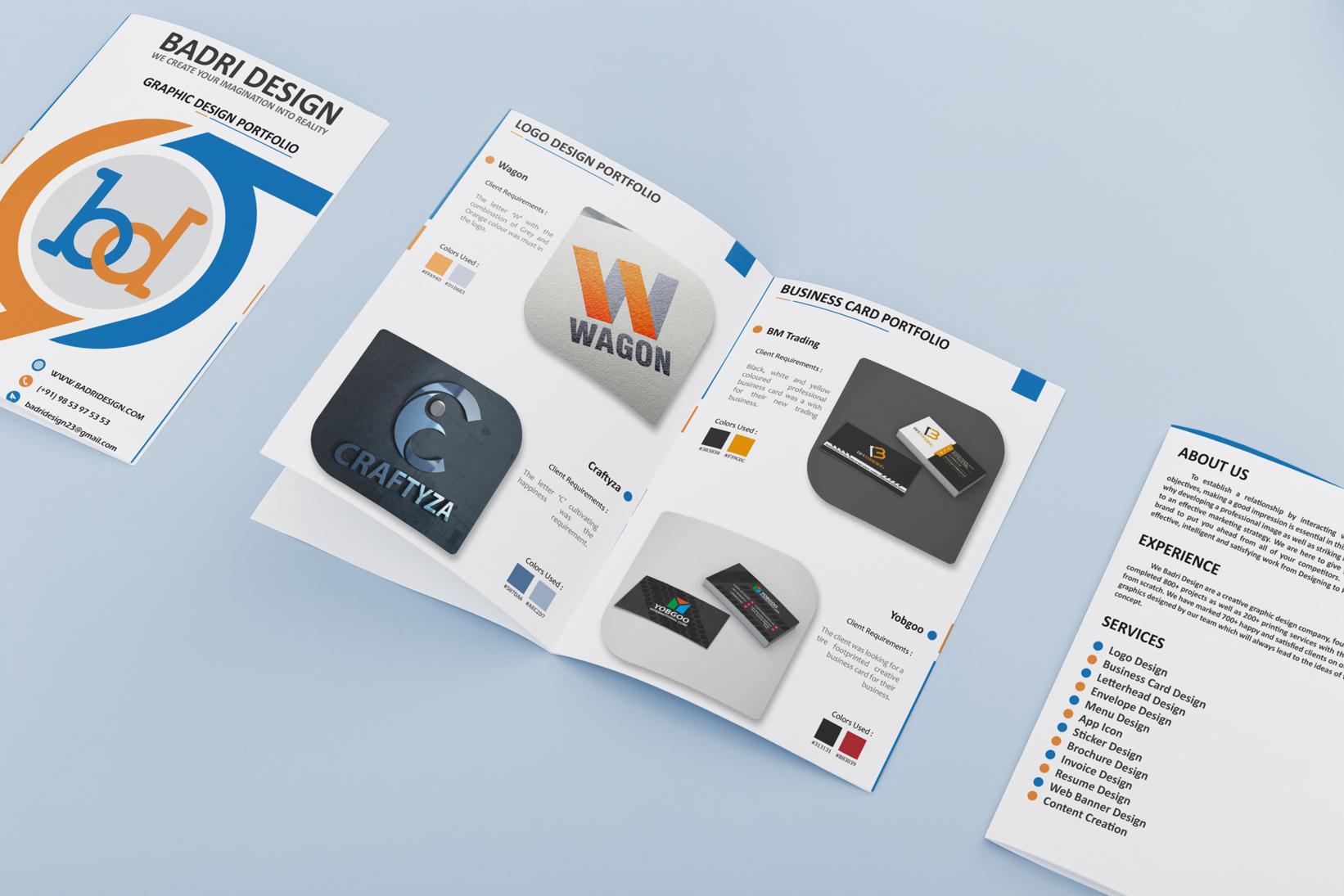 Graphic design Portfolio design for Badri design