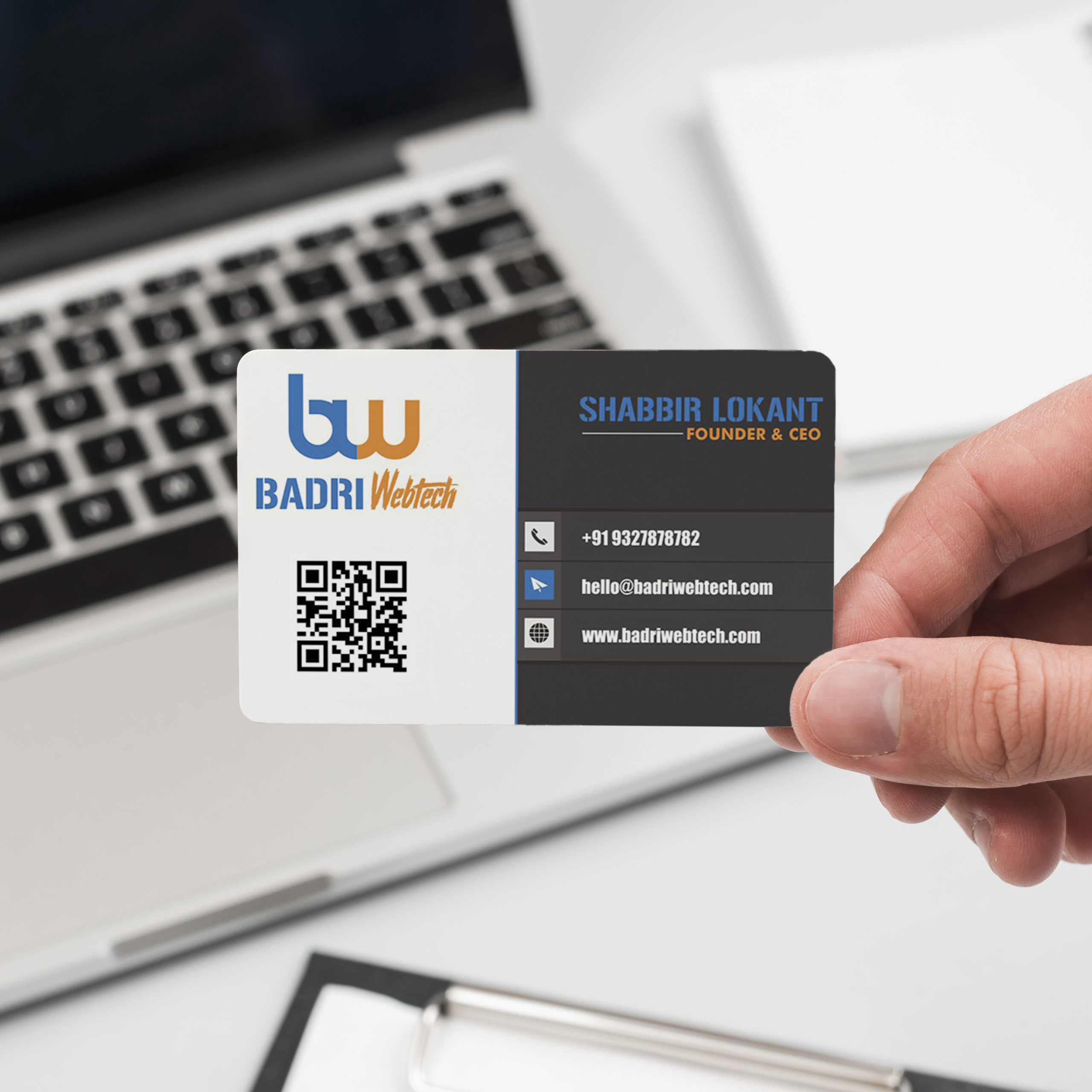 Webtech comany business card design by Badri Design