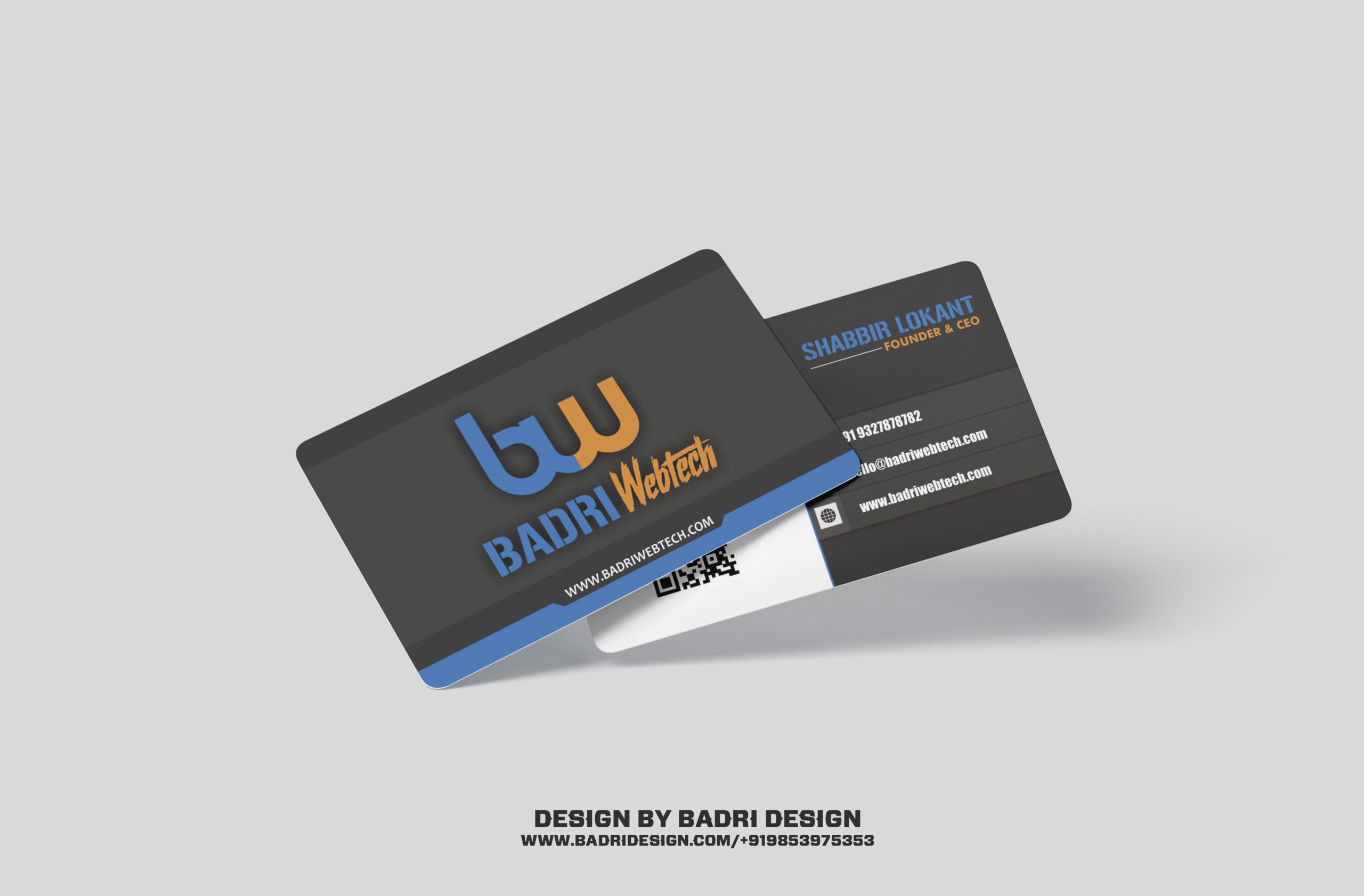 Webtech company business card design by Badri Design