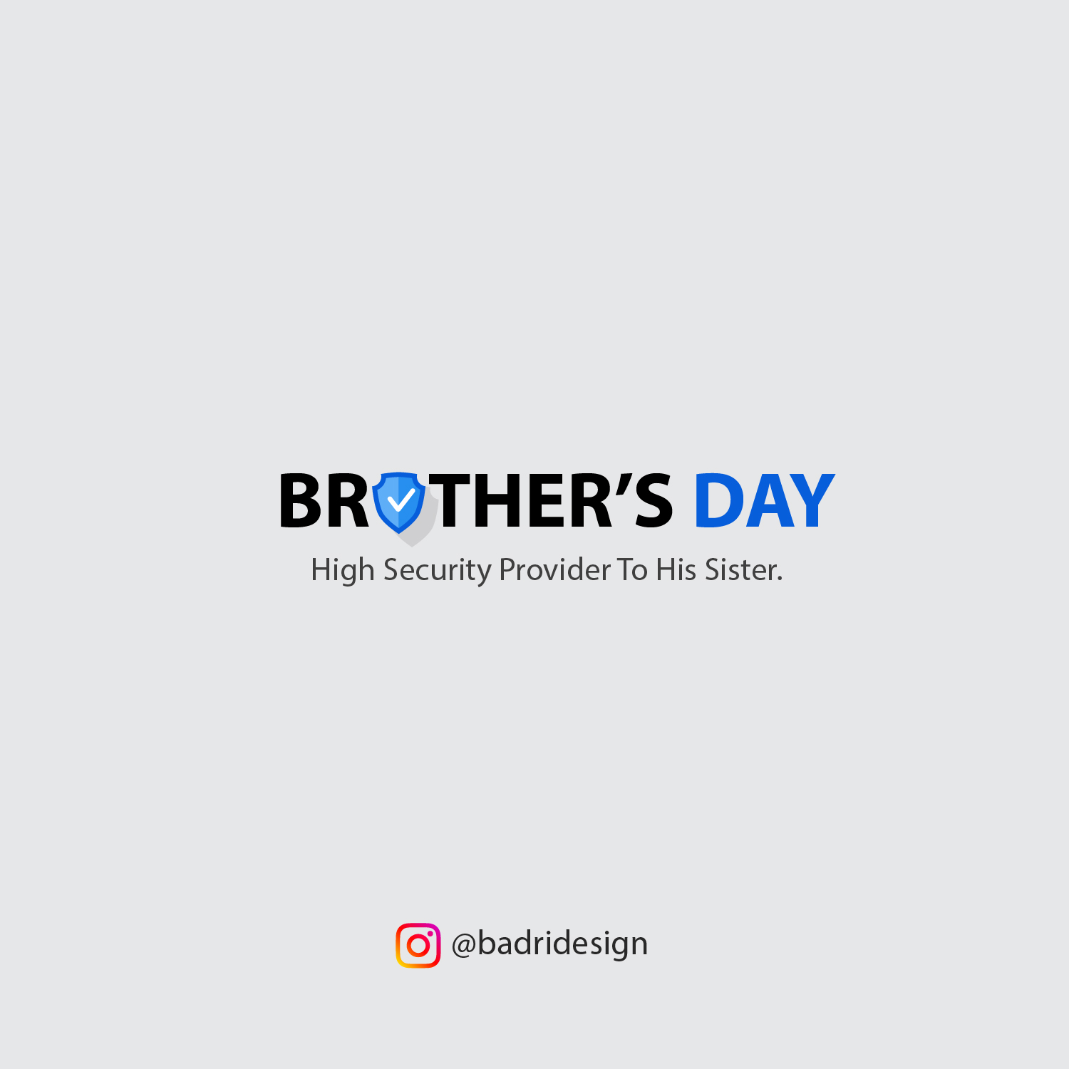 Topical post design on brother's day by Badri Design