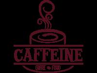 Food and cafe logo design for caffeine by badri design