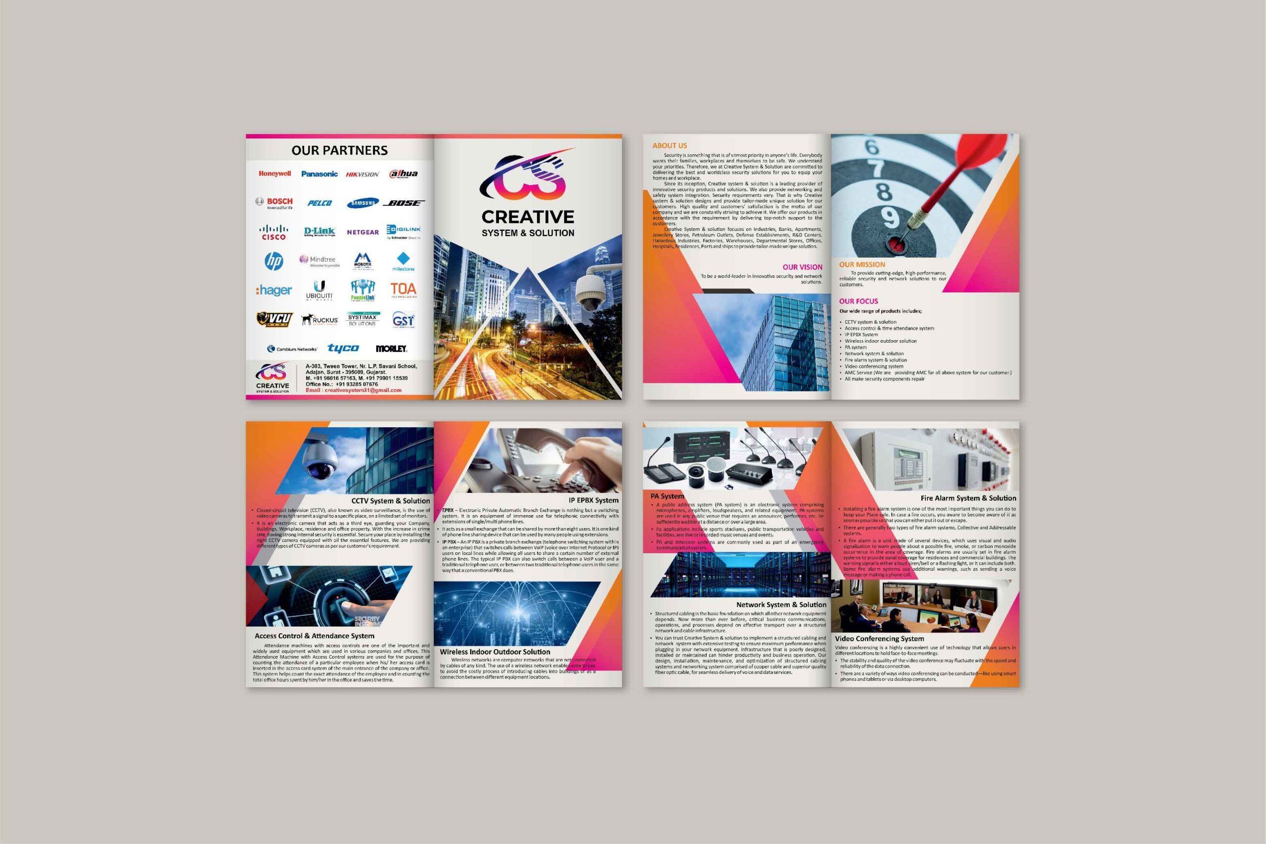 creative system and solution Brochure design by Badri design