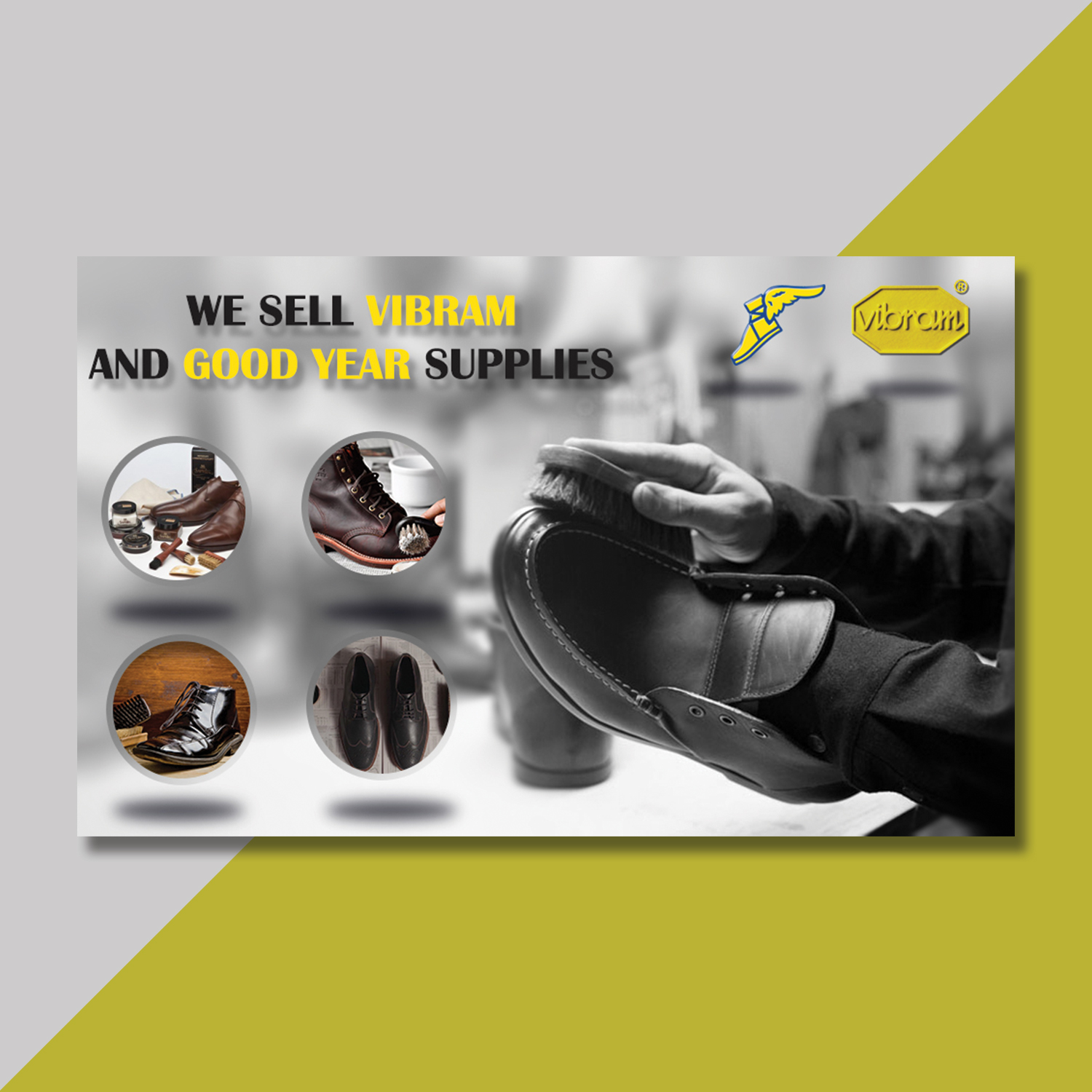 Good year shoes banner design by Badri Design
