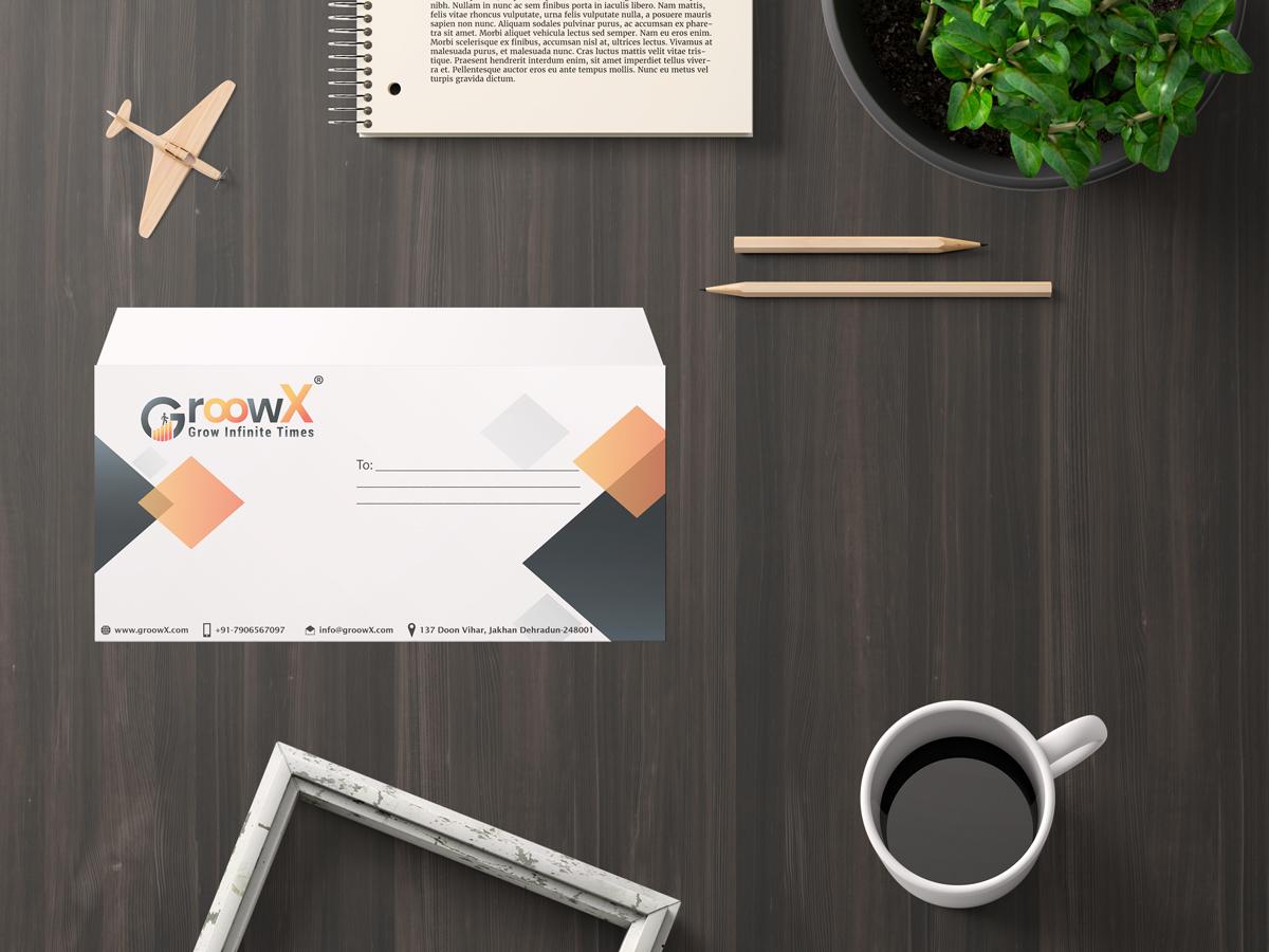 groowx company envelope design by badri design