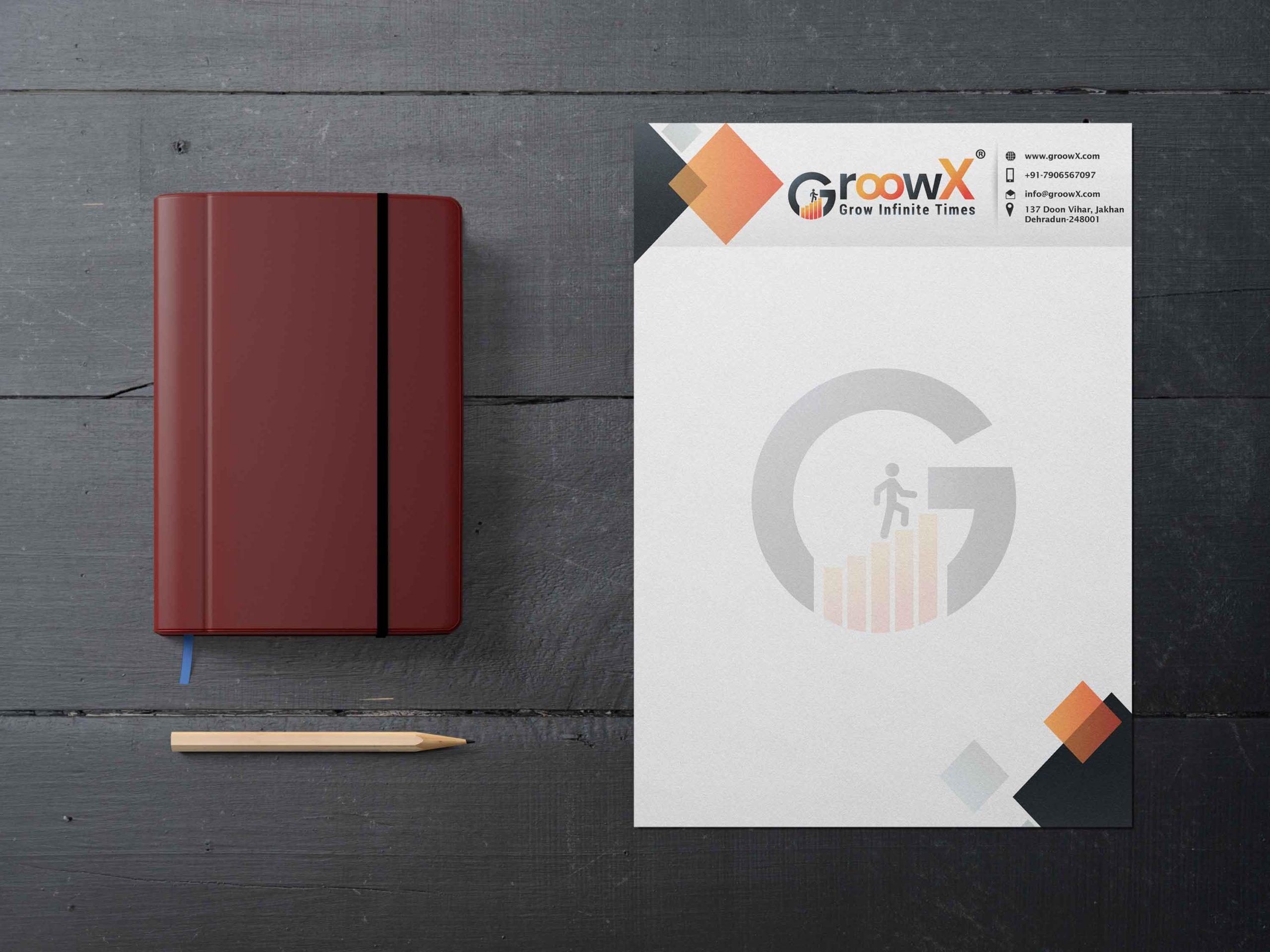 groowx company corporate letterhead design by Badri design