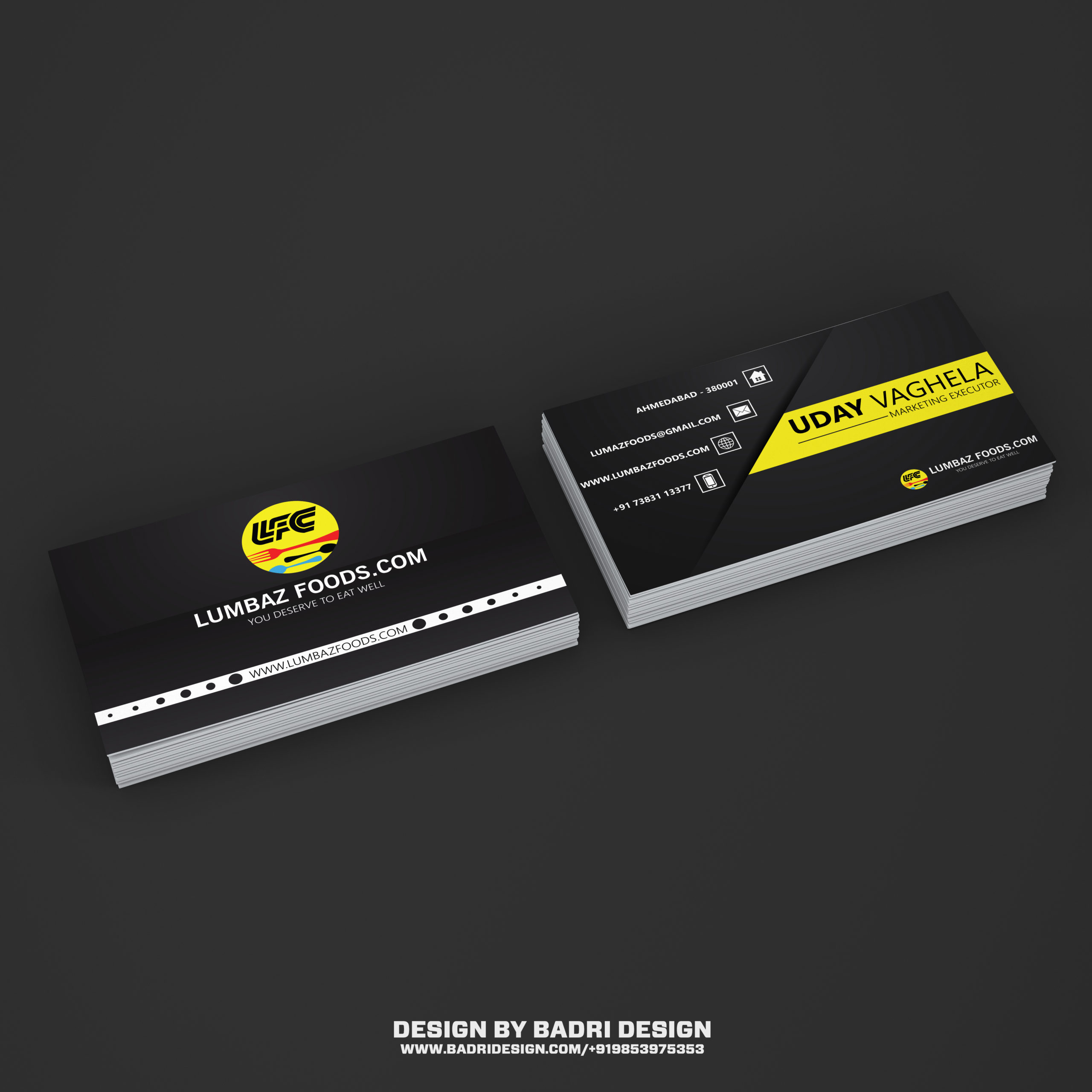 Food Delivery services provider business design by Badri Design