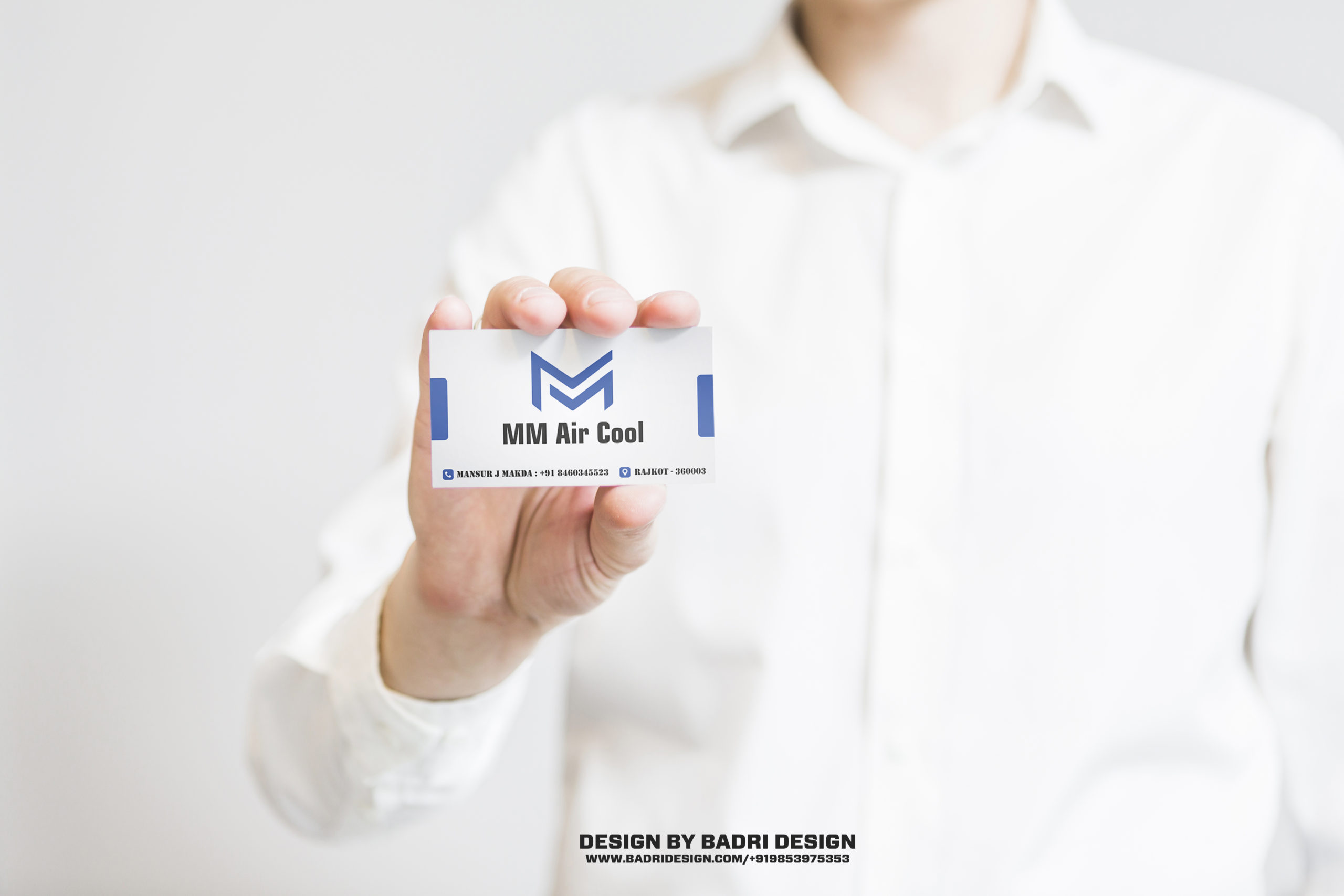 AC services repair company business card design by Badri Design