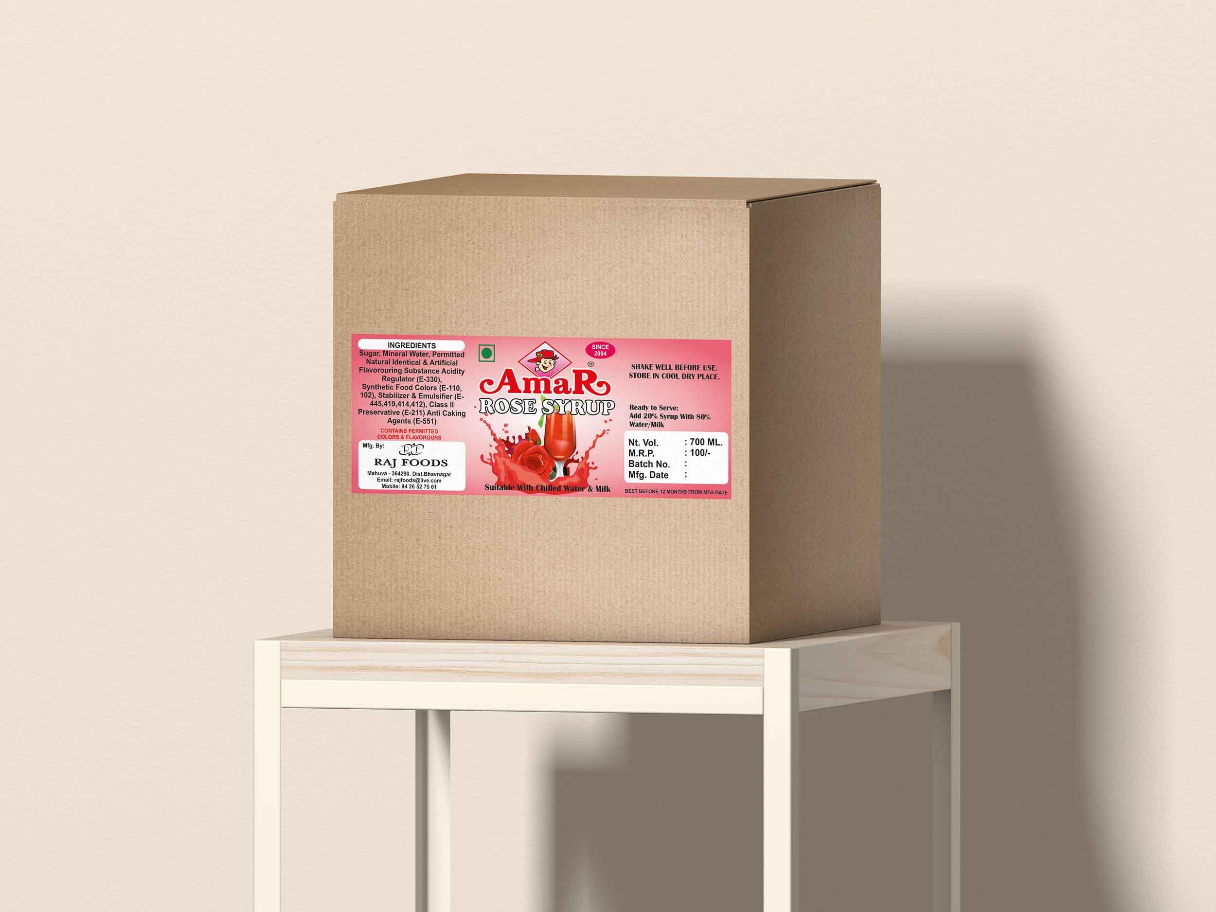 Amar syrup sicker design by Badri Design
