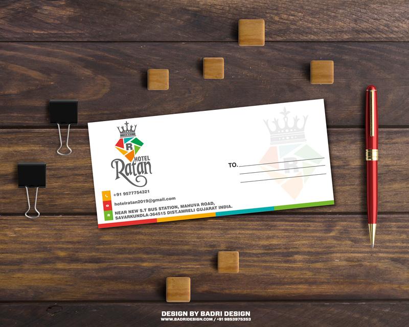 Hotel Ratan Envelope design by badri design
