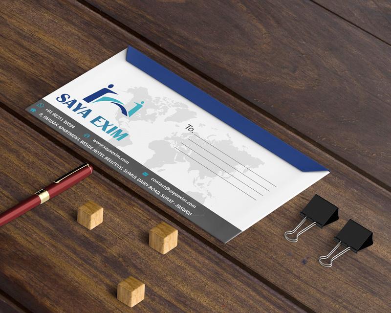 Saya Exim envelope design Badri design