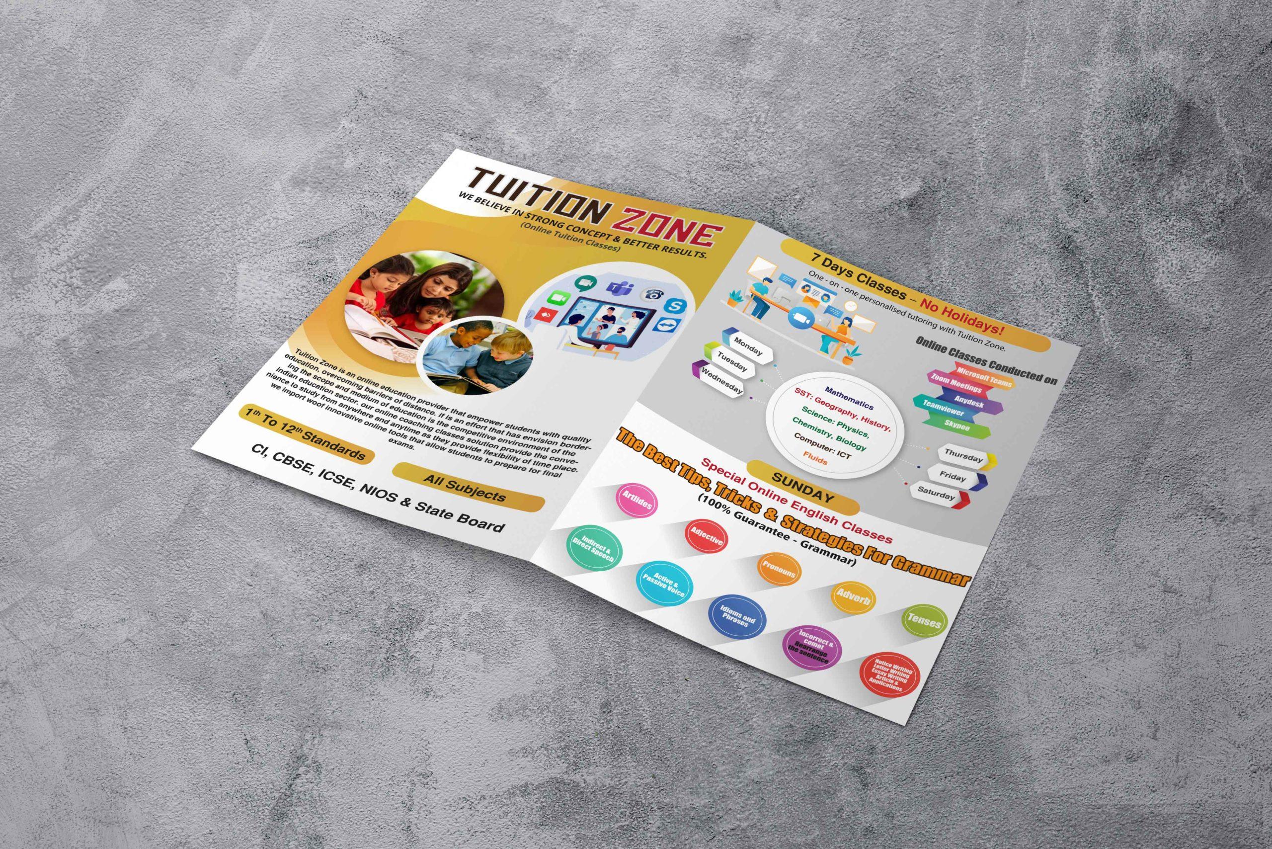 Tuition classes brochure design by badri design