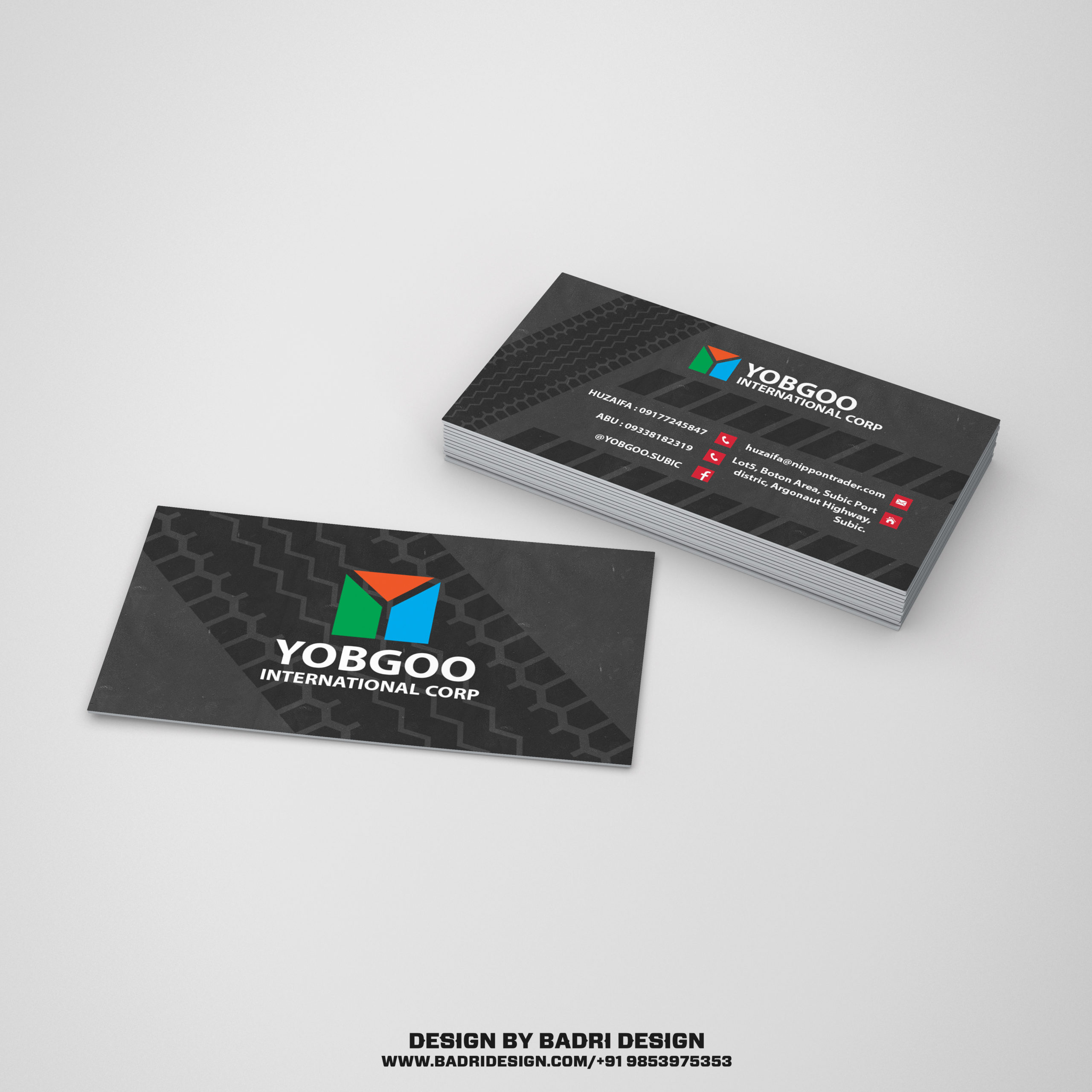 Japanizes truck dealer company business card design by Badri Design