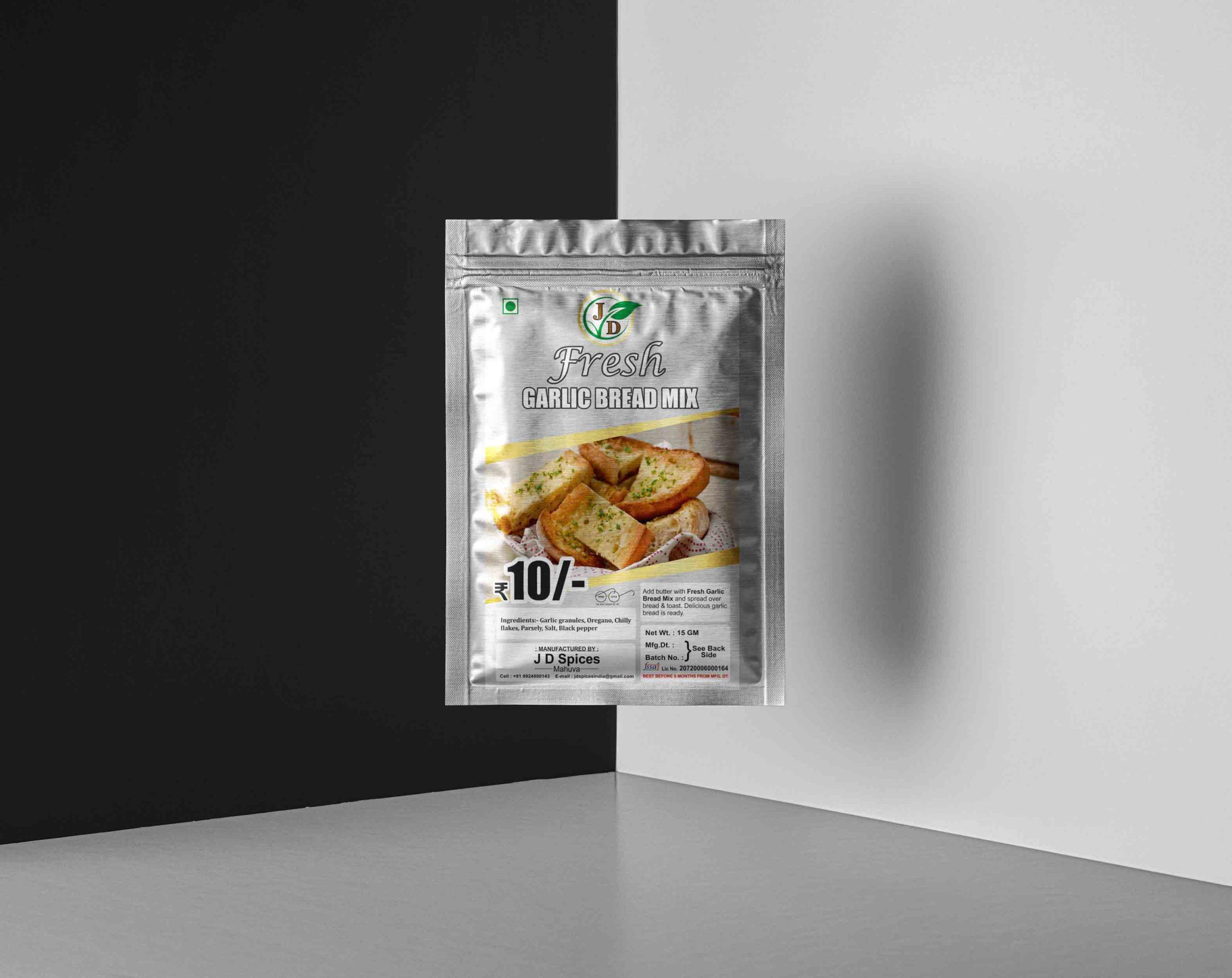 JD spices and food company masala sticker design by Badri Design