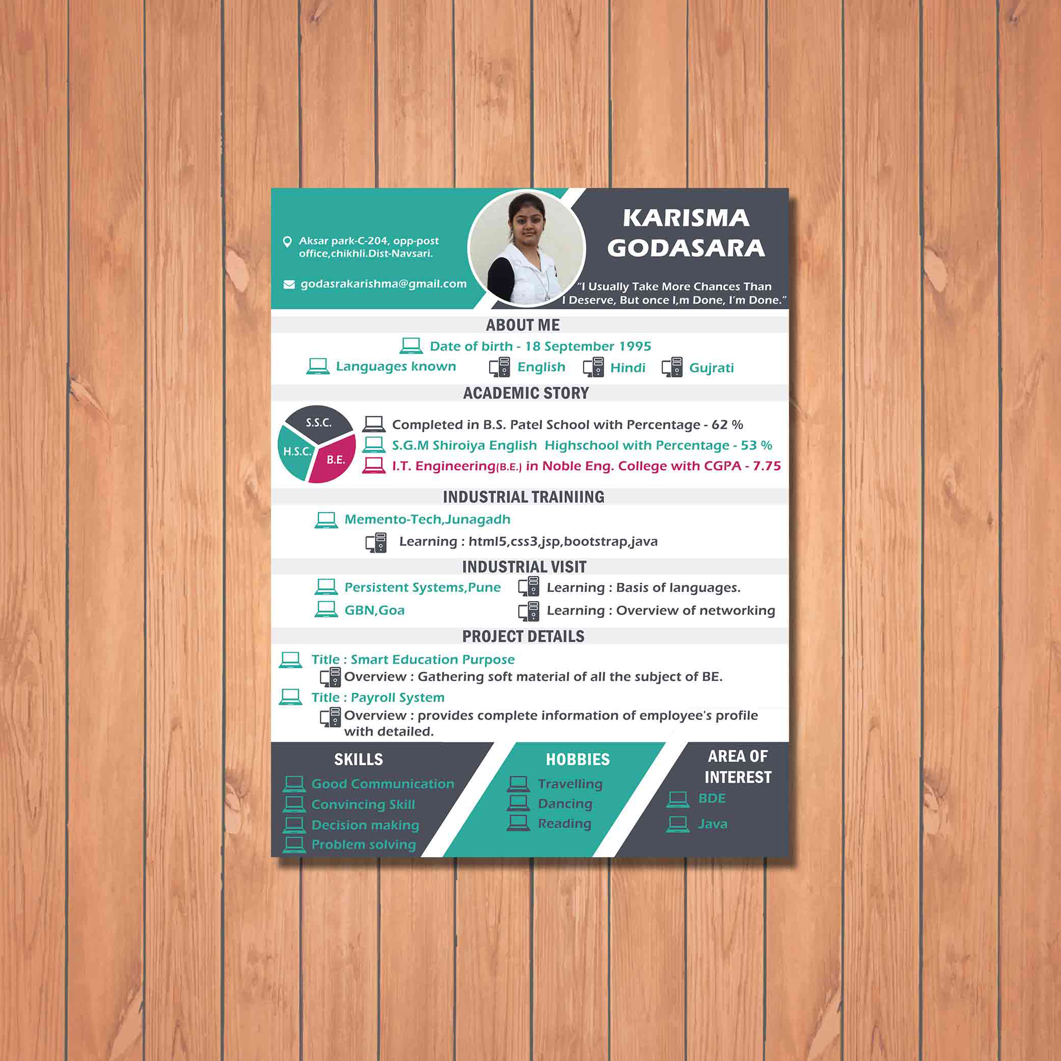 Colorful resume design for marketing executive client by badri design