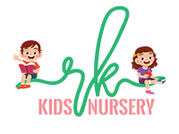 RK Nursery Logo Design With Playing Children